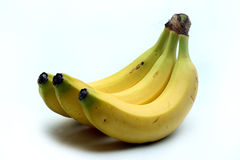Fresh bananas. Image of a group of fresh bananas on white Royalty Free Stock Photo