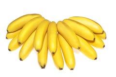 Fresh bananas isolated royalty free stock photos