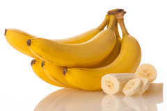 Fresh bananas isolated over white background. Fresh bananas isolated over white Royalty Free Stock Photography
