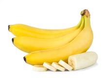 Fresh bananas. Isolated on white background. Stock Photography