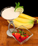Fresh bananas strawberry and s cocktail Stock Image