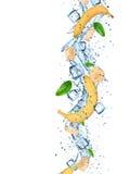 Fresh bananas with water splash. Fresh bananas with water splash, close-up Stock Photo
