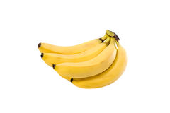 Fresh bananas on white background. Fresh bananas isolated on white background Royalty Free Stock Photography