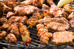 Fresh Barbecue With Mixed Meat