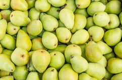 Fresh Bartlett pears on display Royalty Free Stock Images