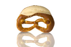 Fresh Bavarian pretzel for breakfast Royalty Free Stock Photo