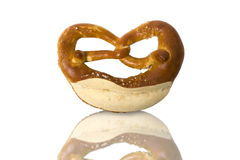 Fresh Bavarian pretzel for breakfast Stock Image
