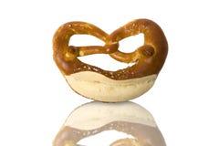 Fresh Bavarian pretzel for breakfast Stock Image