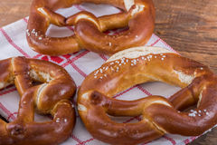 Fresh bavarian pretzels Royalty Free Stock Photos