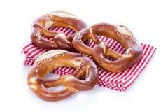 Fresh bavarian pretzels Stock Images