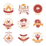 Fresh BBQ Emblems Collection Stock Photography