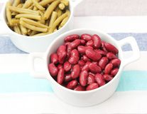 Fresh beans. Some red and green beans Royalty Free Stock Photo