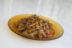 Fresh beans turkish cuisine. Background unit isolate stock image