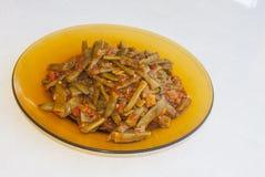 Fresh beans turkish cuisine. Background unit isolate royalty free stock photos