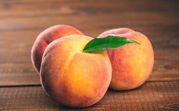 Fresh beautiful fruit peaches Royalty Free Stock Photo