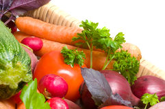 Fresh beautiful vegetables. Royalty Free Stock Image