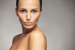 Fresh and beautiful woman with perfect skin Royalty Free Stock Photo