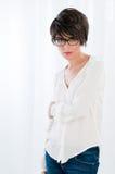 Fresh beauty with eyeglasses Stock Photography
