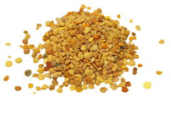 Fresh bee pollen isolated Stock Image