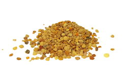Fresh bee pollen isolated Stock Photo