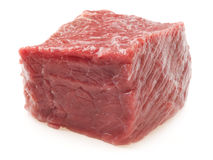 Fresh beef isolated on white.  Royalty Free Stock Photo