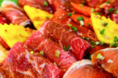 The Fresh Beef. Preparing to grilling and cooked for enjoy to eat Stock Image