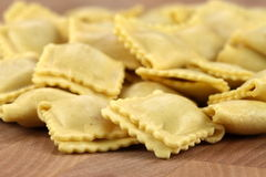 Fresh beef ravioli Stock Photo