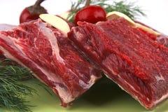 Fresh beef rib's on dish Royalty Free Stock Photos