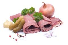 Fresh beef rolls Stock Image