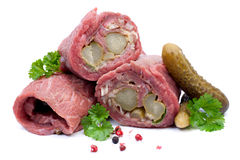 Fresh beef rolls Stock Photography