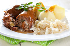 Fresh beef roulade Royalty Free Stock Photography
