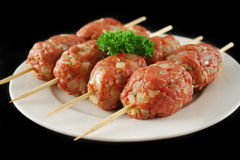 Fresh Beef Skewers Royalty Free Stock Photo