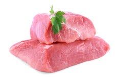 Fresh beef slab isolated on white Royalty Free Stock Photo