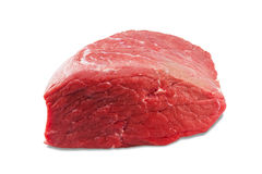 Fresh beef slab isolated on white background royalty free stock images