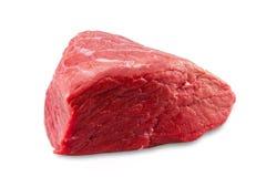 Fresh beef slab isolated on white background Stock Image