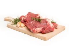 Fresh beef steaks Stock Photos