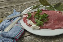 Fresh beef steaks Stock Images