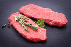 Fresh beef steaks Royalty Free Stock Photography
