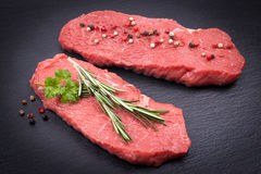 Fresh beef steaks Royalty Free Stock Images
