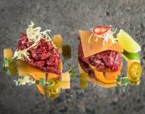 Fresh beef tartar Royalty Free Stock Photos