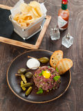 Fresh beef tartare Stock Photos