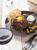 Fresh beef tartare Royalty Free Stock Image