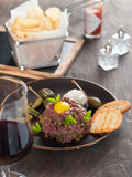 Fresh beef tartare Royalty Free Stock Photos