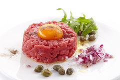 Fresh beef tartare Stock Photo