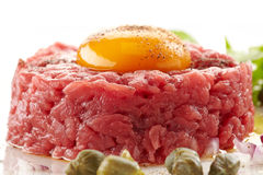 Fresh beef tartare Royalty Free Stock Photo