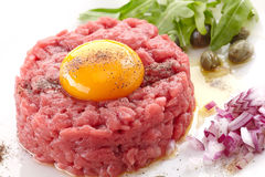 Fresh beef tartare Stock Images