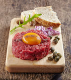Fresh beef tartare Royalty Free Stock Photography