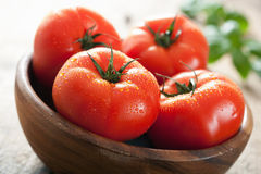 Fresh beef tomatoes in bowl Royalty Free Stock Photo