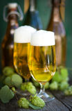 Fresh beer Stock Photos