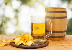 Fresh beer in the glass. royalty free stock photo